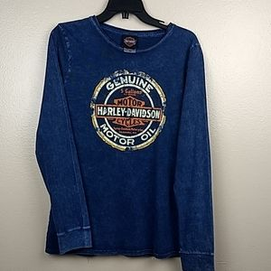 Harley Davidson Long Sleeve T-shirt Size XL
